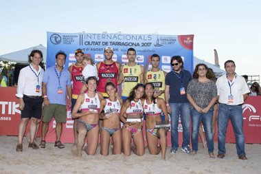 Foto: Merteki-Martínez y los hermanos Monfort, campeones de los Internacionales Ciudad de Tarragona 2017 (TARRAGONA 2017)