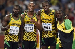 Foto: Bolt conquista el triplete de oros en Pekín (REUTERS)