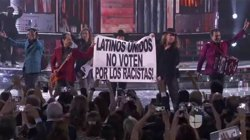 El vocalista de Maná demana als llatins que no votin racistes durant la gala Grammy Llatí (TWITTER UNIVISIÓN)