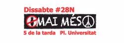 Convoquen una manifestació a Barcelona contra el terrorisme i a favor de la pau (PLATAFORMA MAI MÉS)