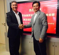 Ciuraneta es reuneix amb el president de la principal distribuïdora d'aliments de la Xina (GENCAT)