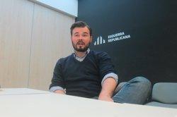 Rufián (ERC) rebutja que el 20D serveixi per negociar la independència a les Corts (EUROPA PRESS)