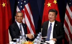 Obama i Xi prometen treballar junts per un acord a la Cimera del Clima de París (KEVIN LAMARQUE / REUTERS)