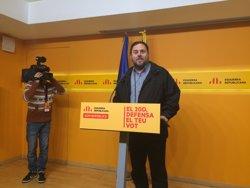 Junqueras urgeix a negociar perquè l'Assemblea de la CUP doni suport a la invesvitura (EUROPA PRESS)