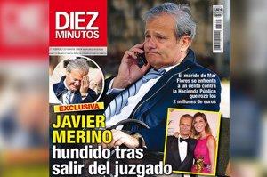 Javier Merino rompe a llorar al salir del juzgado