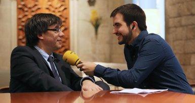 """Puigdemont veu clau la ràdio en la """"vertebració d'un país"""" amb llengua pròpia (GOVERN/RUBEN MORENO)"""