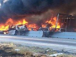 Una colisión múltiple deja 20 muertos y 40 heridos en el estado mexicano de Puebla (TWITTER: JOAQUÍN LÓPEZ-DÓRIGA)