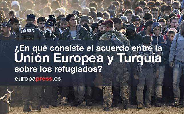 En Qué consiste el acuerdo entre la Unión Europea y Turquía sobre los refugiados