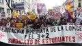 Arranca la manifestación de estudiantes de Madrid contra la LOMCE, el 'decreto 3+2' y los recortes