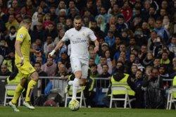 Benzema pateix una lesió al bíceps femoral i és dubte per a la tornada contra el City (EUROPA PRESS)