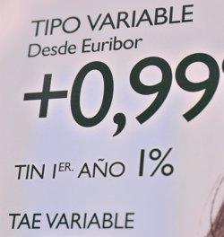 L'euríbor tanca abril al -0,010% i suma tres mesos seguits en negatiu (EUROPA PRESS)