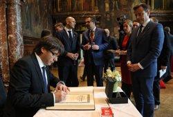 Puigdemont acorda establir missions empresarials conjuntes amb el Govern de Flandes (GOVERN/JORDI BEDMAR)