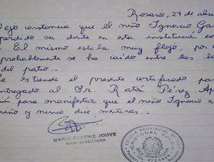 Un niño pierde un diente y su profesora escribe una carta al Ratoncito Pérez