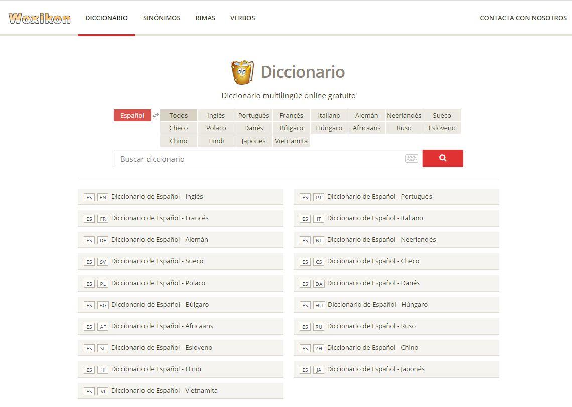 diccionario en linea gratuito: