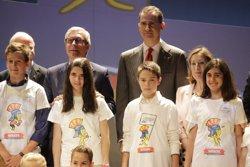 El Rei presideix la presentació de Tarracvs, la mascota dels Jocs del Mediterrani 2017 (EUROPA PRESS)