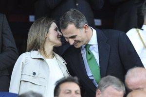 Don Felipe y Doña Letizia, un feliz  aniversario en la Copa del Rey