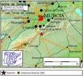 Murcia registra un terremoto de magnitud 2,1 esta madrugada