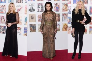 Kim Kardashian eclipsa en Londres a Kate Moss y Claudia Schiffer
