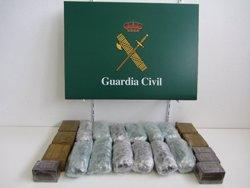 La Guàrdia Civil incauta 18,6 quilos d'haixix d'un cotxe a la Jonquera (GUARDIA CIVIL)