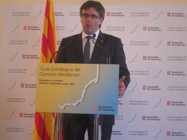 """Puigdemont insta el futur Govern espanyol a prioritzar el corredor mediterrània per """"consens transversal"""" (EUROPA PRESS)"""