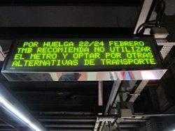 Els treballadors del Metro de Barcelona rebutgen la proposta de TMB i hi haurà vaga dilluns (EUROPA PRESS)