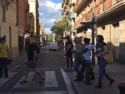 Gabriel, Reguant, Garganté i Lecha (CUP) acudeixen a la zona del 'Banc Expropiat' (EUROPA PRESS)