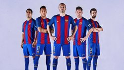 La samarreta del Barça per a la nova temporada homenatja el 25è aniversari de Wembley'92 (EUROPA PRESS/REMITIDO)
