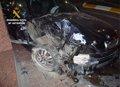 Detenido un conductor por eludir un control y ocasionar un grave accidente con tres heridos