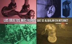 Los objetos más raros que alquilan los españoles en Internet (EUROPA PRESS)