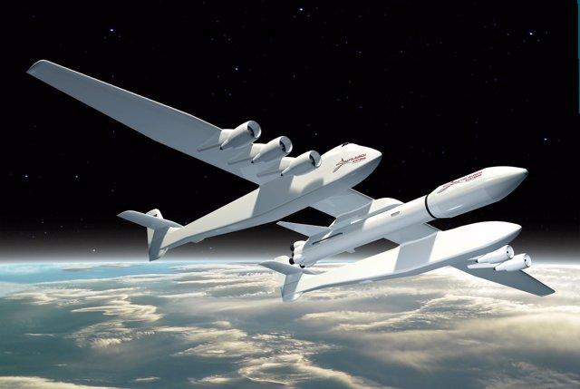 El mayor avión de la historia lanzará cohetes al espacio (STRATOLAUNCH SYSTEMS)
