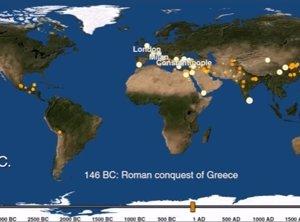 Mapa de la historia de las ciudades del mundo