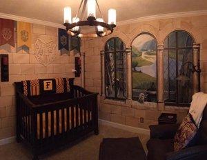 Habitación de un bebé igual que la de harry Potter