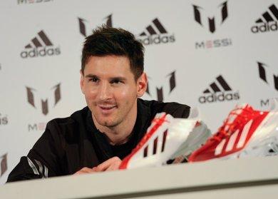 Una parte del cuerpo de Leo Messi al descubierto