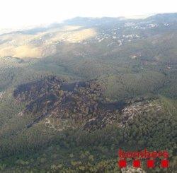 Successos.- Estabilitzat l'incendi forestal d'Olivella (Barcelona) (BOMBERS DE LA GENERALITAT)