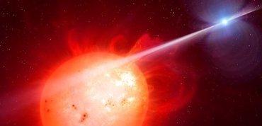 Una enana blanca azota con un rayo misterioso a una enana roja (ESO/UNIVERSIDAD DE WARWICK)