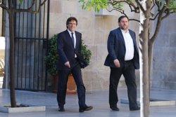 Puigdemont i Junqueras es reuneixen amb inversors del Centre Recreatiu i Turístic de Vila-seca i Salou (GENCAT/ RUBEN MORENO GARCIA)