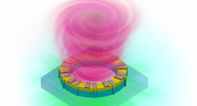 Un láser vórtice llega en ayuda de la Ley de Moore (UNIVERSIDAD DE BUFFALO)