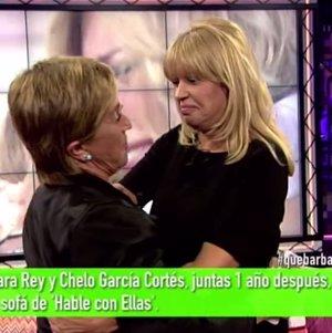 Bárbara Rey y Chelo se reconcilian en directo en un mar de lágrimas