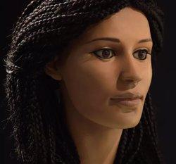 Reconstrueixen el cap momificat d'una jove egípcia (PAUL BURSTON)