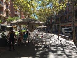 Les terrasses de les rambles Fabra i Puig i Onze de Setembre s'ubicaran en un únic costat (EUROPA PRESS)
