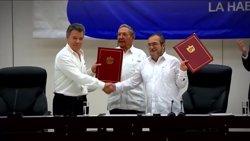 El Congrés de Colòmbia aplaudeix l'anunci d'alto el foc definitiu per part de les FARC (EUROPAPRESS)