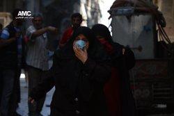 Avions de guerra ataquen diversos districtes sota control dels rebels a Alep (ALEPPO MEDIA CENTER)