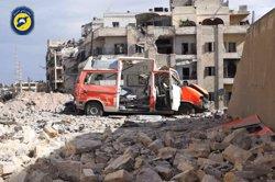 Més de 70 morts en els bombardejos aeris sobre Alep des d'aquest matí (TWITTER @SYRIACIVILDEF)