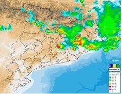 Risc de tempestes amb vent i calamarsa aquest diumenge a la nit (SERVEI METEOROLÒGIC DE CATALUNYA)