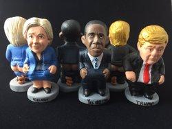 Hillary Clinton i Donald Trump ja tenen caganer (CAGANER.COM)