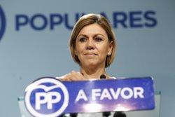 Cospedal, disposada a donar suport a Page després de la ruptura de l'acord amb Podem (EUROPA PRESS)