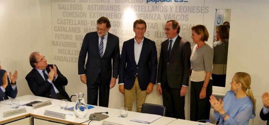 Foto: Rajoy no renuncia a formar Gobierno y esperará a que el PSOE supere su 'impasse' (TWITTER DE ALFONSO ALONSO)