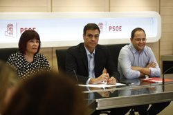 Pedro Sánchez respecta l'opinió de González però subratlla que la seva posició la va adoptar el Comitè Federal (EUROPA PRESS)