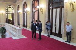 Artur Mas, expresidents del Parlament i entitats sobiranistes en la qüestió de confiança (EUROPA PRESS)