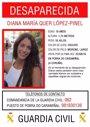 La Guardia Civil investigará los testimonios de personas que dicen haber visto a Diana Quer en dos localidades de Lugo